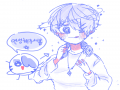 사실 선도 .. : 사실 선도 딸ㄹ ㅏ햌ㅅ는데뇨 푸른색이 맘에들어서 ㄱ 냥 냅뒀삼니자,,^^,^ 스케치판 ,sketchpan
