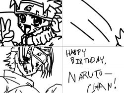 Naruto's bday prsent : ya I didnt have enough space in the title. It was supposed to b Naruto's Birthday Present. I did this in 3 hours. i have the MOST TIME IN THE WORLD RIGHT NOW AND I'M FREAKIN HUNGRY!!!!!!!! oh. srry. Enjoy n.n , 스케치판,sketchpan,ZeroYuki