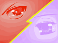 Purple vs Red : I wanted to draw the purple one actually in BLUE, but changed my mind cuz i like purple better ^^. I got really bored and wanted to draw eyes. Personally, I like red better than purple. 스케치판 ,sketchpan