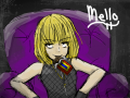 Mello~ Death Note : Mello from Death Note. And, yes, he is a GUY. heh heh. people usually think hes a girl at first glance. I kinda screwed up on the colors... If u havnt noticed already, hes kinda got a chocolate addiction... 스케치판 ,sketchpan