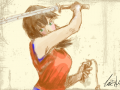 REDO!! 3 : ...i thought she needed some color... and weapons... 스케치판 ,sketchpan