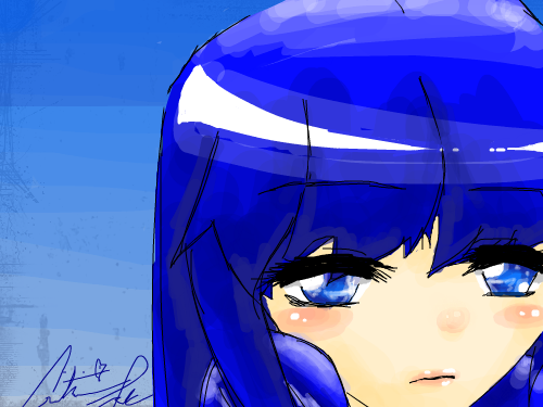 Blue : Personally, I love her eyes and the bottom half of her face... =) 스케치판 ,sketchpan