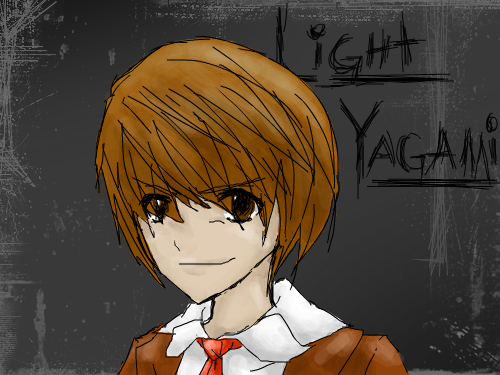 Light Yagami : It's Light Yagami (or KIRA) from Death Note. I hate him. He's stupid, obnoxious, vacuous, and has OCD. He whines too much, also. He always spends his saturdays just THINKING of things to complain about. 스케치판 ,sketchpan