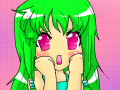 Gasp! : I don't know what she's gasping at, but she is anyway. Her green hair is an enigma, too. 스케치판 ,sketchpan