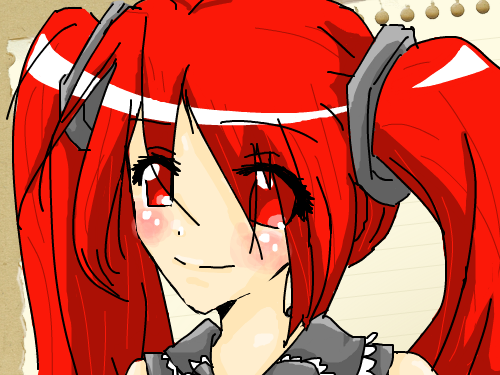 Red-haired girl : Random!! =3 스케치판 ,sketchpan