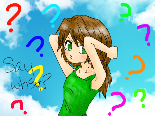Say what? : ^^ She's kinda confused at the moment... 스케치판 ,sketchpan