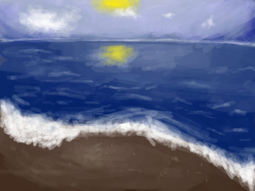 Beach : When i first saw the original pic, i thought 'beach', even though it was probably just a random picture. 스케치판 ,sketchpan