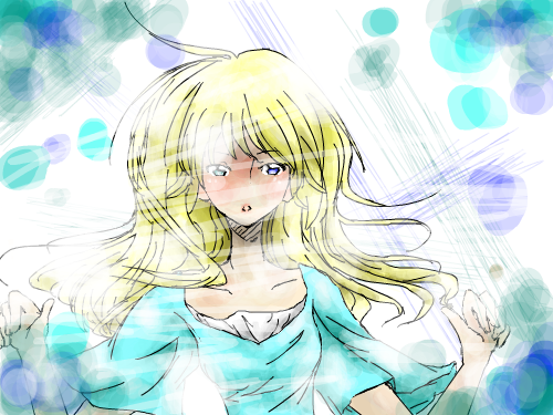 Crossed : i likie her eyes!!!!! X3 It took me a while to do this, but AT LAST its done 스케치판 ,sketchpan