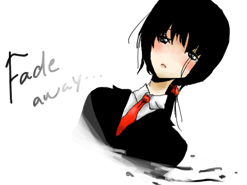 Fade away : this is my friend joyce and she wrote a poem called fade away. Inspired by Joyce!! 스케치판 ,sketchpan