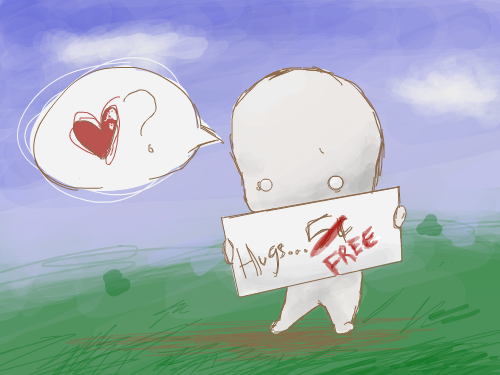 Hug? : I saw a picture like this, and thought it was so cute, so I made one of my own! 스케치판 ,sketchpan