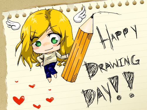 Happy Drawing Day!! : As you all know, drawing day is coming up on June 6th, 2009! 스케치판 ,sketchpan