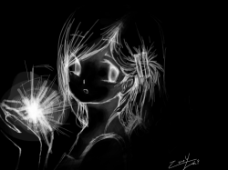 Small Light : Even in complete darkness, there is always a small light hiding somewhere. , 스케치판,sketchpan,ZeroYuki