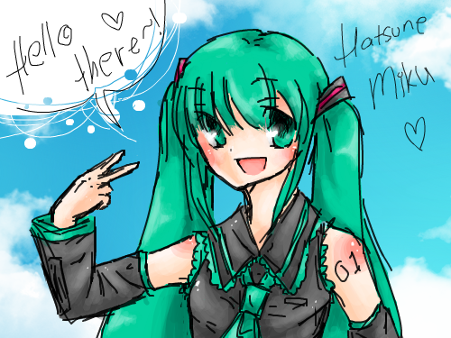 Hatsune Miku -- Colored! : Well, I'm just finishing what I started. 스케치판 ,sketchpan