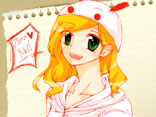 ZeroYuki (Again!!) : It's my actual self with BLOND hair. I don't like the eyes, though... T.T 스케치판 ,sketchpan