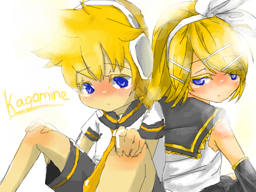 Kagamine ^^ : Add on!! Kagamine twins 스케치판 ,sketchpan