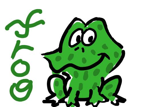 갑자기 떠오른 개구리 : 폴짝폴짝 스케치판 ,sketchpan