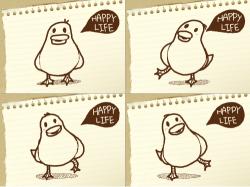 happy life : 행복한 오리 , 스케치판,sketchpan,애니주