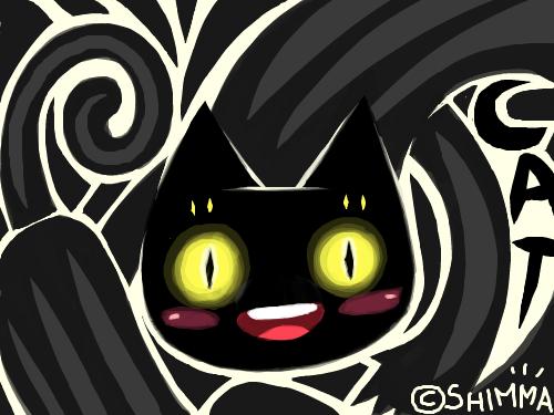 검은고양이 : 검은고양이~ 스케치판 ,sketchpan